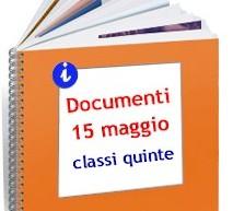 Documenti del 15 maggio 2017 – Classi 5