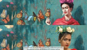 Frida Kahlo con farfalle: Castracani Roberta 5F
