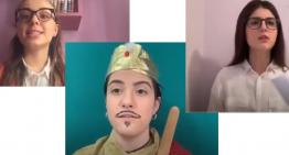 """DAD: la 3C presenta l'intervista impossibile a """"CarloV"""" Imperatore del Sacro romano Impero"""