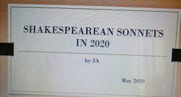 """DAD: gli studenti di 3A presentano """"Shakespearean sonnets in 2020"""" a cura della prof. Tirri"""